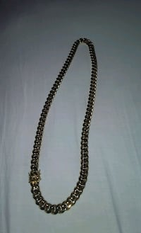 Gold-plated chain 24mm heavy