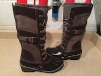 Women's Size 7 Sorel Conquest Carly Tall Winter Boots London