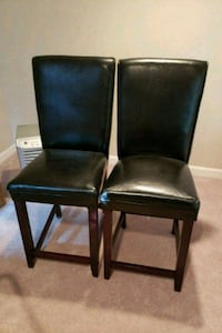 2-Black Leather Bar Stools Falls Church, 22046