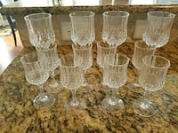 clear cut glass pitcher and drinking glasses Denver, 28037