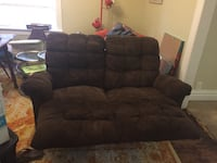 Brown reclining loveseat. Very comfortable. Bought new furniture and have no room . Denver, 80206