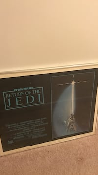 Star wars return of the jedi original poster- framed Lexington, 40514