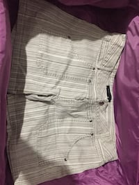 White and gray striped short shorts Thousand Palms, 92276