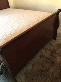 queen size bed with mattress and box spring like new
