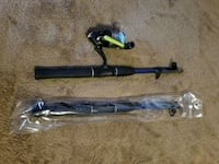 Fishing Shakespeare reel and two telescopic rods Burnaby, V5E 1E7