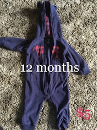 baby's purple zip-up sleeper