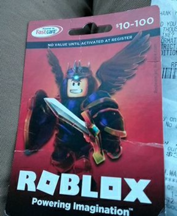 Used Roblox Gift Card 25w For Sale In Worcester Letgo