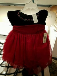 Beautiful 2pce girls red dress 12mon nwt Toms River, 08753