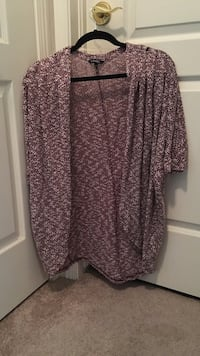 Burgundy speckled short sleeve cardigan