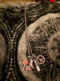 Chain with 5 pink pendants with diamond accents  Edmonton, T5C 2L6