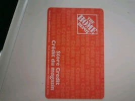 Home Depot gift card Store credit $163.22 asking $100obo