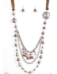 Draping necklace and earring set; available in 2 colors.  Upper Marlboro, 20774