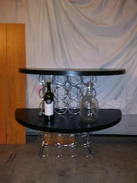 Two-tier table with wine rack Wichita, 67220