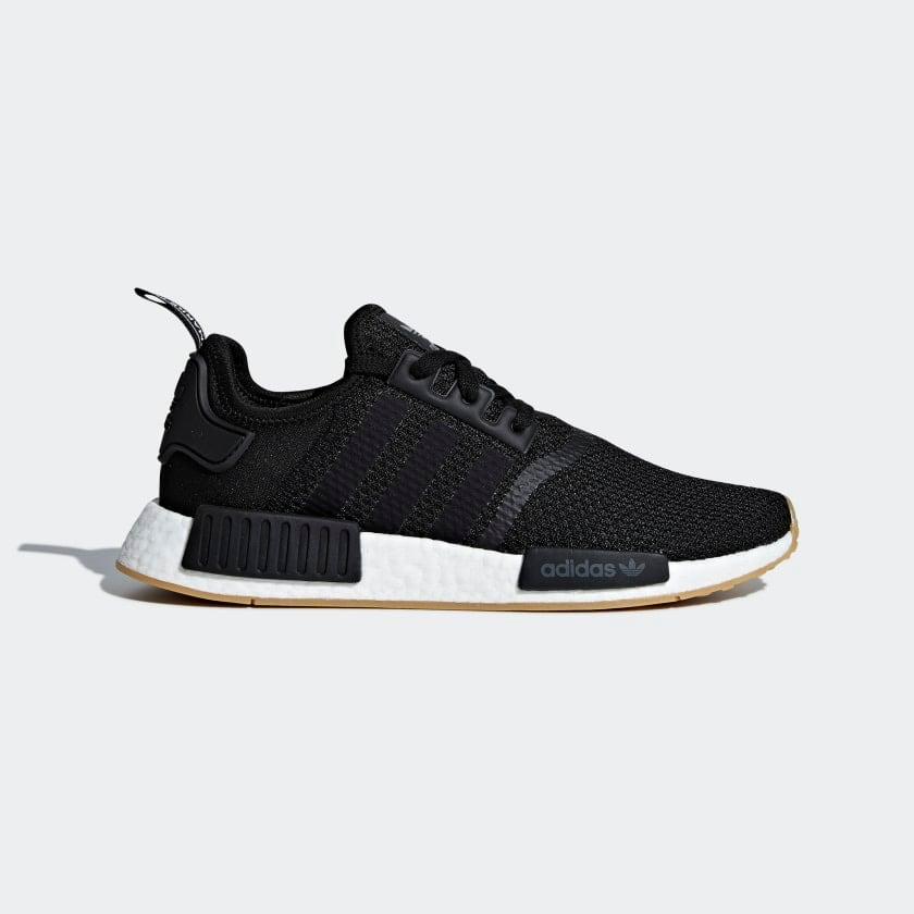 ADIDAS NMD_R1 CORE BLACK SHOES - Brand New