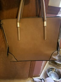 brown leather tote bag Austin, 78731