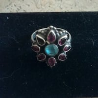 silver-colored and purple gemstone ring San Jose, 95123