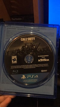 Call of duty world war 2ps4 game disc Mississauga, L5V