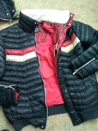 black and red bubble jacket Clearfield, 84015