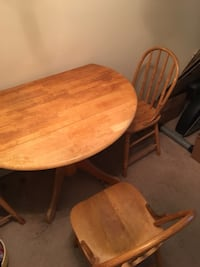 brown wooden dining table set Coquitlam, V3J 3X7