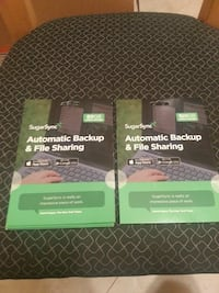 two Sugar Sync Automatic Backup & File Sharing books