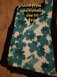 black and green floral scoop-neck sleeveless dress Edmonton, T5T 3S7
