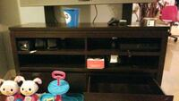 black and brown wooden TV stand Brampton, L6S 5Y4