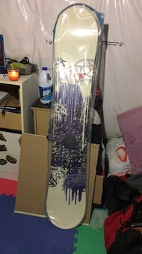 White and purple  floral print textile snow board  Windsor, N9B 2M6