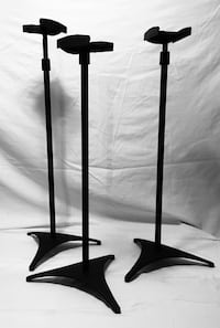 3 Black On Stage Music Instrument Stands