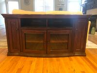 Brown wooden tv stand with cabinet Chicago