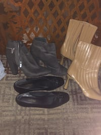 Gray ankle boots, tan ankle boots and black leather shoes  Annapolis, 21401