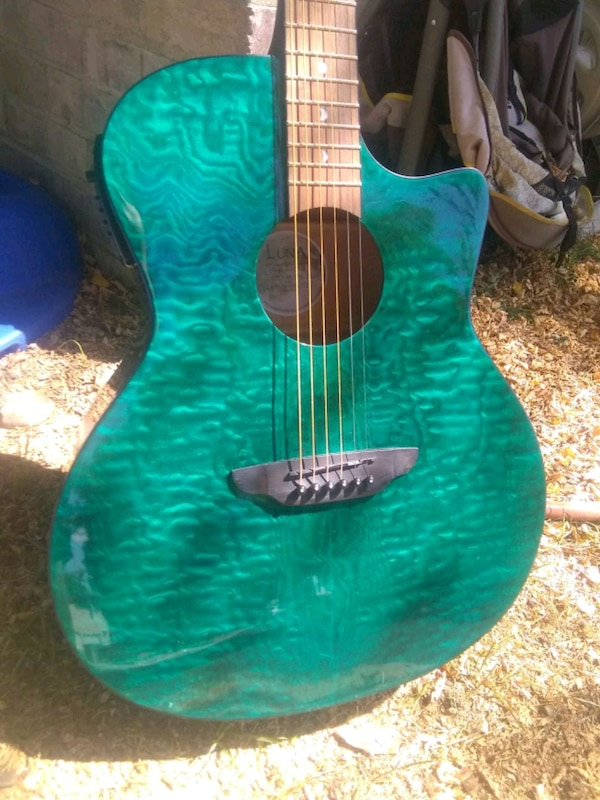 Luna acoustic-electric quilted exotic