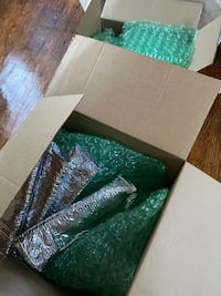 Free boxes and bubble wrap!