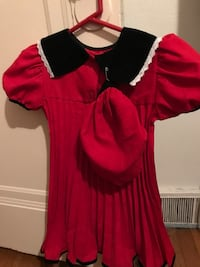 Little girl's red and black shirt