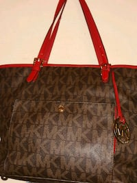 brown Michael Kors leather tote bag 1400 mi