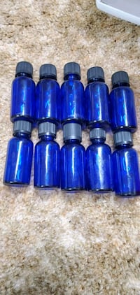Glass apothecary essential oils jars