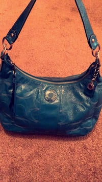 blue leather Coach hobo bag Durant, 74701
