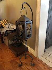 WROUGHT IRON LANTERN ON STAND North Dumfries, N0B