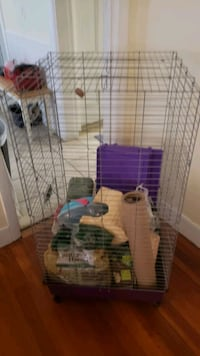 chinchilla/ ferret cage excellent condition all accessories  Attleboro, 02703