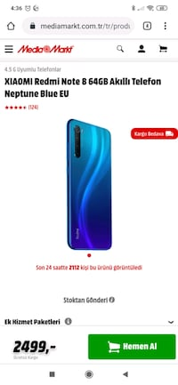 Redmi note 8 128gb 4gb ram