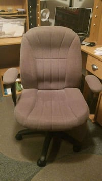 brown wooden framed gray padded glider chair Albuquerque, 87102