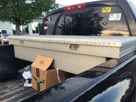 Truck tool box for sale ASAP  comes with key and locks  lots of space clean works like a charm no leaking