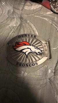 Bronco belt buckle never used