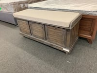 Bench with Cushion Seat and Storage (NEW, Big Autumn Sale!) Houston, 77092