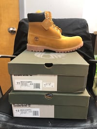 Boots timberland only 11 and 12 size left  Gaithersburg, 20879