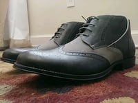 pair of gray leather wingtip oxfords Washington
