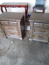 two brown wooden nightstands Stockton, 95210