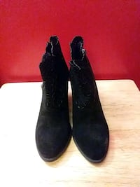 Black Suede Boots Kenner, 70065