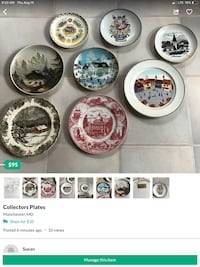 Collectors plates Manchester, 21102