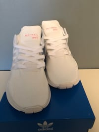 pair of white Adidas NMD shoes with box Richmond Hill, L4E 0C2