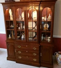 Solid Cherry China Cabinet Vienna, 22182